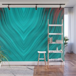 stripes wave pattern 3 2s Wall Mural