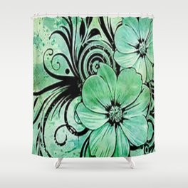 paint the fleur Shower Curtain