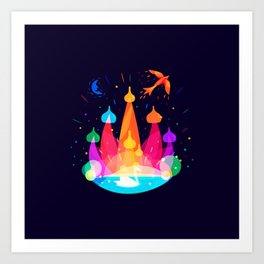 Russian Fairytale Art Print