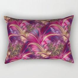 Fancy Fractal Fashion Design Pink Gold Rectangular Pillow
