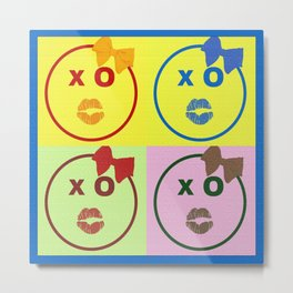 Kissy Lovey Face Metal Print