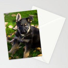#Little #German #Shepherd #puppy Stationery Cards