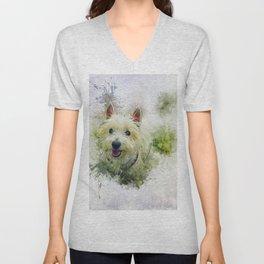 West Highland White Terrier Unisex V-Neck