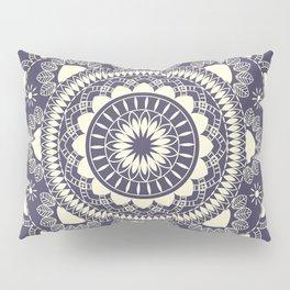 Boho Indian medallion Blue Pillow Sham