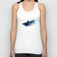 biology Tank Tops featuring Lost in Fantasy ~ Orca ~ Killer Whale by Amber Marine