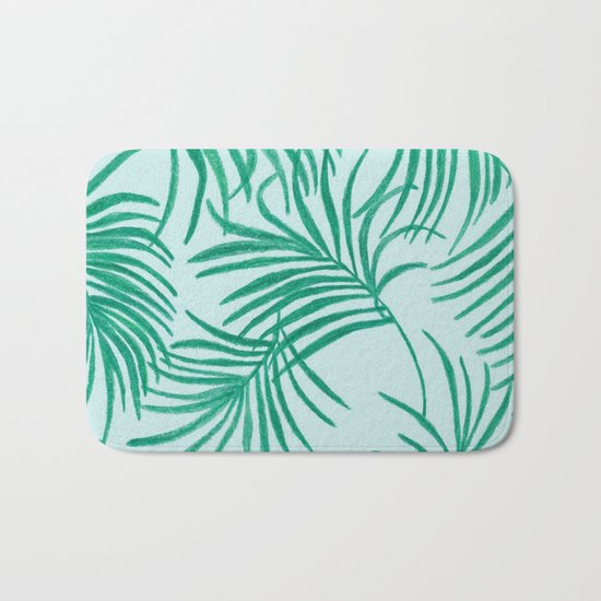 Green Leaves Of Home Bath Mat