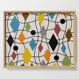 Colorful Mid Century Modern Geometric Abstract 121 Serving Tray