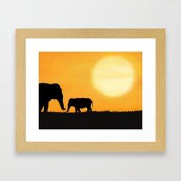 Parenting on the Horizon Framed Art Print