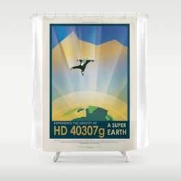 HD 40307 g - NASA Space Travel Poster Shower Curtain