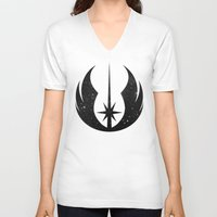 jedi V-neck T-shirts featuring Jedi Order and Stars by foreverwars