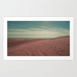 Pink dunes of Maspalomas Art Print