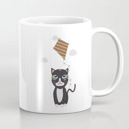 Cat with Kite Coffee Mug