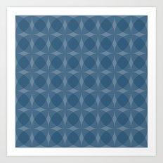 denuti (blue) Art Print