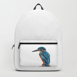 Kingfisher Watercolour Painting Backpack