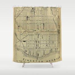 Vintage Kingston Jamaica Map (1914) Shower Curtain