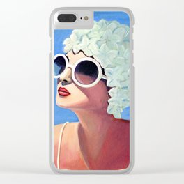 Vivian goes for a dip. Clear iPhone Case