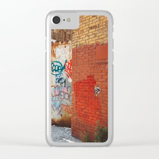 Greenpoint Graffiti III Clear iPhone Case