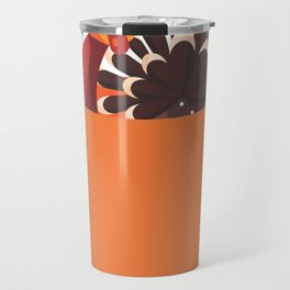 Happy Thanksgiving I Funny Turkey in a Pumpkin  Travel Mug