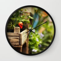 strawberry Wall Clocks featuring Strawberry by Nina's clicks