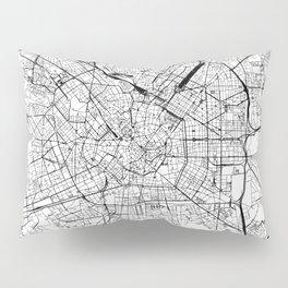 Milan White Map Pillow Sham