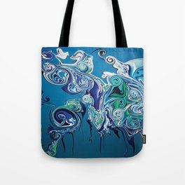 Water in now wetter Tote Bag