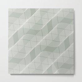 Gray Grey Helix Metal Print