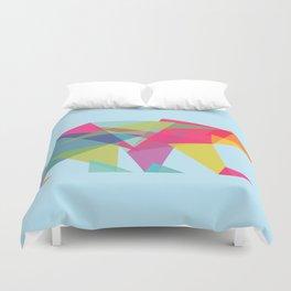 Fractal Bear - neon colorways Duvet Cover
