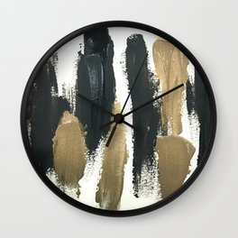 Obsessions in Black Wall Clock