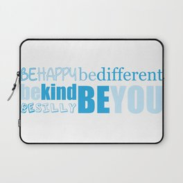 Be You - Blue Laptop Sleeve