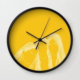 We are haim yellow Wall Clock