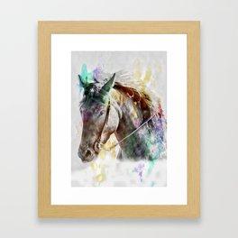 Watercolor Horse Portrait Framed Art Print