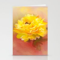 dahlia Stationery Cards featuring Dahlia by Mary Timman