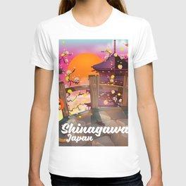 Shinagawa Japan travel poster T-shirt