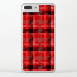 Red And Black Plaid Flannel Clear iPhone Case