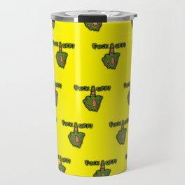 FXXK OFF ZOMBIE -YELLOW Travel Mug