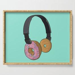 Donut Headphones Serving Tray
