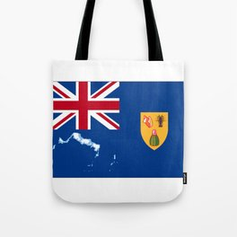 Turks and Caicos Islands TCI Flag with Island Maps Tote Bag