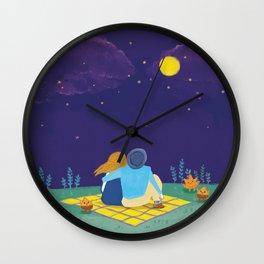 an autumn night Wall Clock