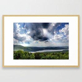 Storm Rays Framed Art Print