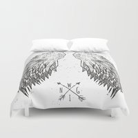 wings Duvet Covers featuring wings by Julia