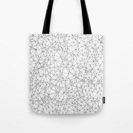 DELAUNAY TRIANGULATION w/b Tote Bag
