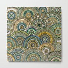 Mandala Mania-Mineral colors Metal Print