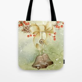 Christmas vintage bell Tote Bag