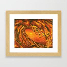 Lava Wave Framed Art Print