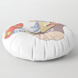 cool sticker designs play skateboard Floor Pillow