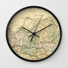 Vintage Map of The North Of China Wall Clock