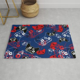 Video Game Red White & Blue 1 Rug