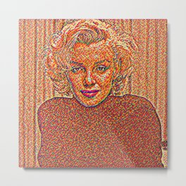 Marlin Monroe Artistic Illustration Candy Style Metal Print