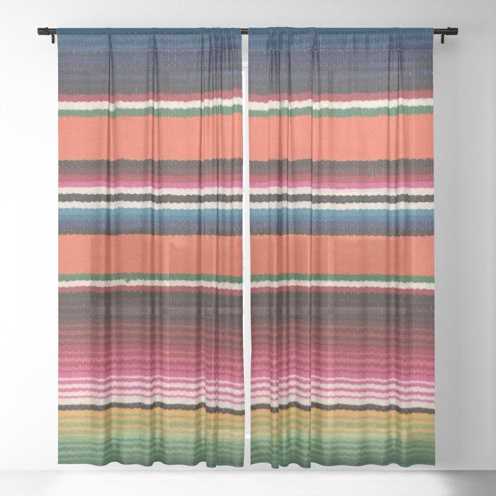 BEAUTIFUL MEXICAN SERAPE Sheer Curtain