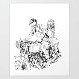 DAPPER SKELETONS - October 16th, 2016 Art Print